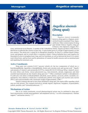 Angelica Monograph - Anaturalhealingcenter.com