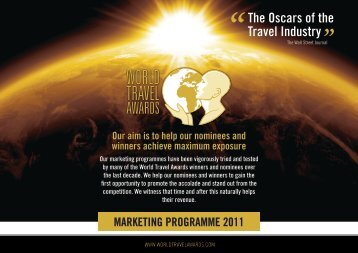 marketing programme 2011 - World Travel Awards