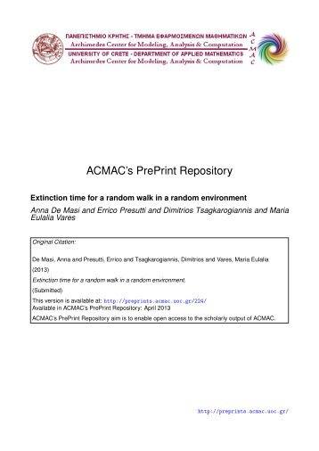 Download (279Kb) - ACMAC's PrePrint Repository