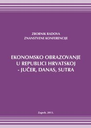 Ekonomsko obrazovanje u Republici Hrvatskoj - Ekonomski Fakultet