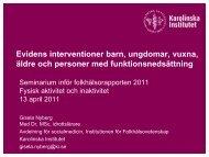 Evidens interventioner barn, ungdomar, vuxna ... - Folkhälsoguiden