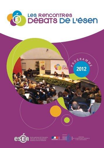 Plaquette de l'édition 2012