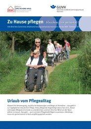 Zu Hause pflegen - Gemeinde-Unfallversicherungsverband Hannover