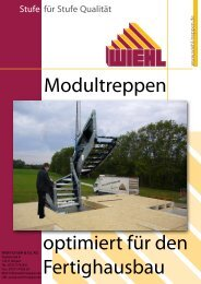 Modultreppen optimiert für den Fertighausbau - WIEHL Treppen