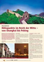 Höhepunkte im Reich der Mitte – von Shanghai bis Peking