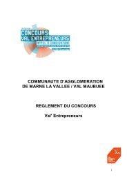 Règlement du concours - Agglomération de Marne-la-Vallée / Val ...