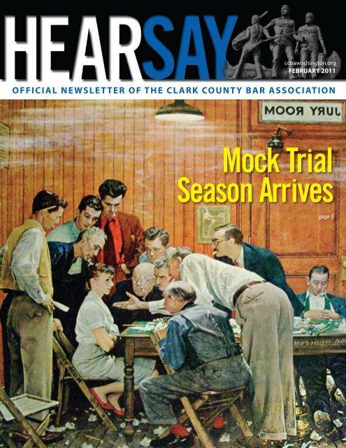 Mock Trial Season Arrives - Clark County Bar Association