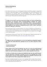 Datenschutzerklärung - studiVZ