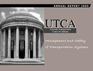 UTCA 2005 Annual Report - University Transportation Center for ...
