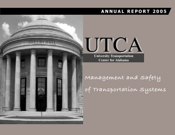 UTCA 2005 Annual Report - University Transportation Center for ...