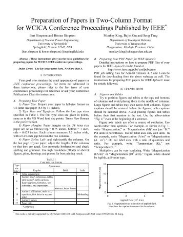 IEEE Conference Paper Template - Electronic Engineering