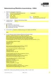 Bekanntmachung Öffentliche Ausschreibung – VOB/A - Die ...