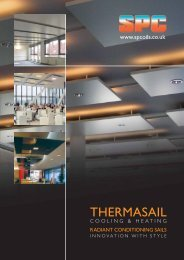 THERMASAIL Radiant Conditioning Sails - S & P Coil Products ...