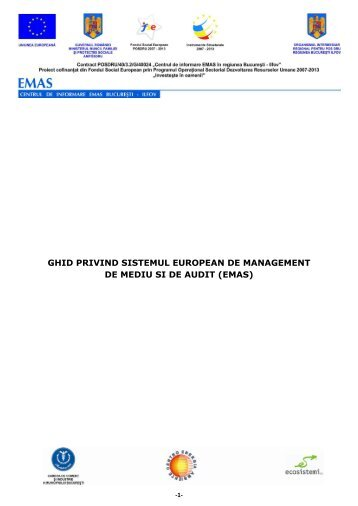 Ghid EMAS - Centrul de informare EMAS in Regiunea Bucuresti-Ilfov