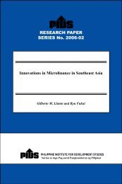 Innovations in Microfinance in Southeast Asia - Philippine Institute ...