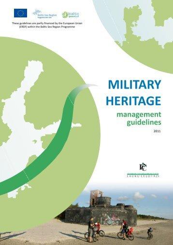 military heritage - Baltic Green Belt - Christian-Albrechts-Universität ...