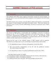Call to Second PhD school - Garnet