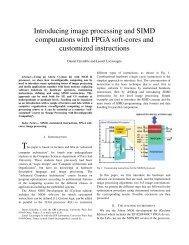 Introducing image processing and SIMD computations - LRI