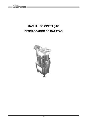Manual do descascador de batatas U PP HLP 15 - Urano