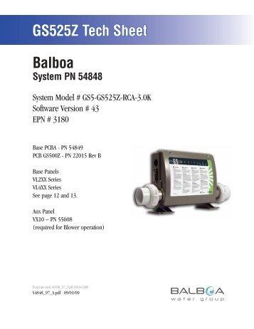 54848, GS5-GS525Z-RCA-3.0K. - Balboa Direct