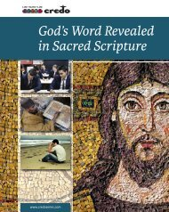 God's Word Revealed in Sacred Scripture - Veritas