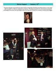 Burns Supper January 25 - Irish Pub on Washington Street