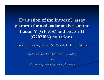 Evaluation of Invader technology. - National Genetics Reference ...