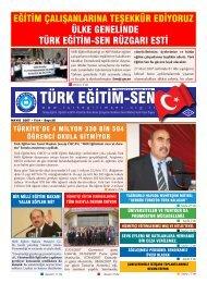 eğitim çalışanlarına teşekkür ediyoruz ülke ... - Türk Eğitim-Sen