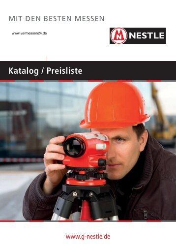 Nestle-Produktkatalog - Vermessen24.de