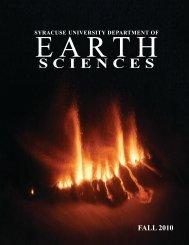 alumni reception - Syracuse Universe Department of Earth Sciences ...