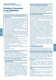 Folsäure Heumann 5 mg Tabletten - Heumann Pharma GmbH