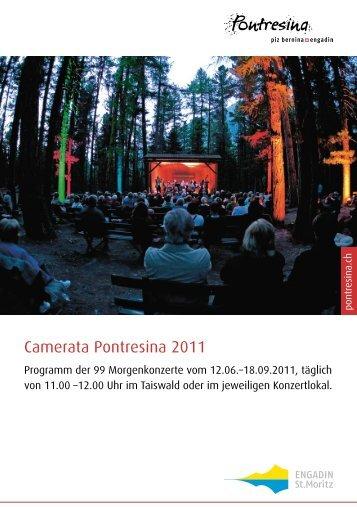 Programm Camerata Pontresina 2011 - Engadin St. Moritz