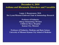 Asthma & rheumatic disorders & vasculitis - World Allergy Organization
