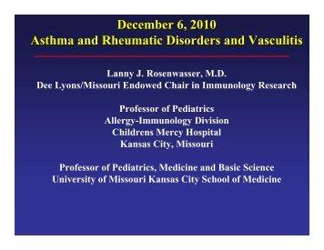 Asthma & rheumatic disorders & vasculitis - World Allergy Organization