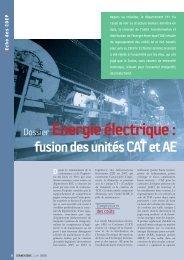 Dossier Energie électrique: