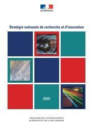 Stratégie nationale de recherche et d'innovation 2009
