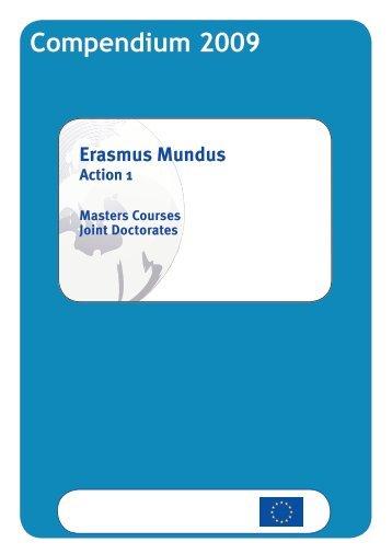 Erasmus Mundus Action 1 Compendium 2009 - EACEA - Europa