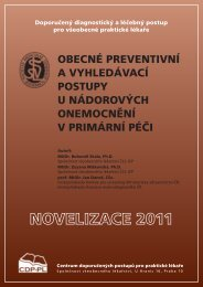 Obecné pOstupy u nádOrOvých OnemOcnění – nOvelizace 2011