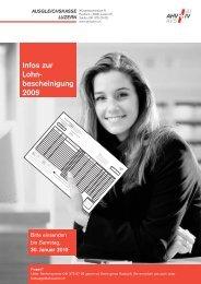 Infos zur Lohn - bescheinigung 2009 - Ausgleichskasse Luzern