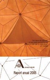 Raport anual 2005 - Asociaţia ALMA-RO