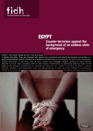 Egypt. Counter-terrorism against the background of - FIDH