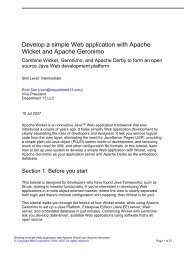 Develop a simple Web application with Apache Wicket and Apache ...