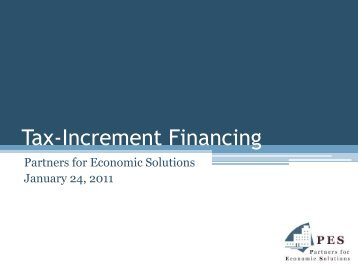 Tax-Increment Financing - Maryland Department of Planning