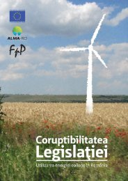 Coruptibilitatea legislaţiei. Studiu de caz - utilizarea energiei eoliene ...