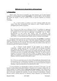 Méthode de la dissertation philosophique - Lyceedadultes.fr