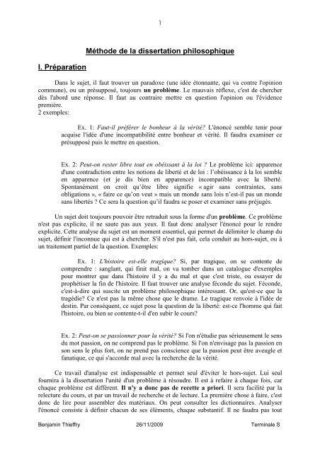 Ma C Thode De La Dissertation Philosophique Lyceedadulte Fr Je Pense Donc Sui Pdf