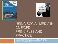 Using Social Media in CME/CPD: Principles and ... - Royal College