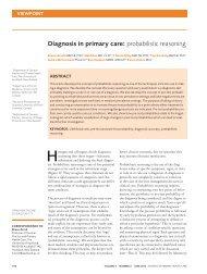 diagnosis in primary care: probabilistic reasoning