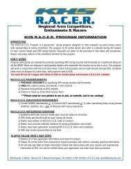 R.A.C.E.R. forms - KHS Bicycles