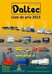 Liste de prix 2013